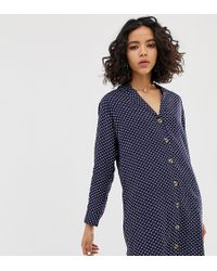 Native Youth - Relaxed Shirt Dress In Abstract Spot Print - Lyst