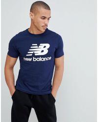 Balance Logo Mt83530 New pgm en Lyst azul marino camiseta p1zwxS