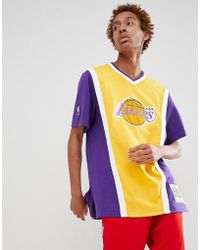 Mitchell & Ness - Nba Lakers T-shirt In Purple - Lyst