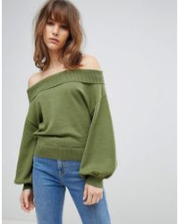ASOS - Jumper With Off Shoulder And Full Sleeve - Lyst