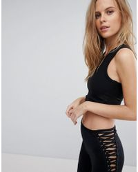 Blue Life - Muscle Ribbed Crop Top - Lyst
