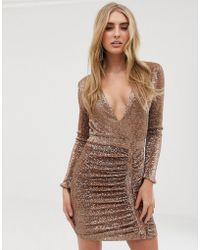 adb35a5b7f84 Lavish Alice - Vestitino decorato con paillettes oro - Lyst
