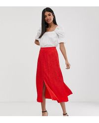 Y.A.S - Button Front Jacquard Midi Skirt - Lyst