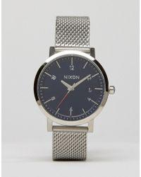 Nixon - Rollo 38 Mesh Watch In Silver - Lyst