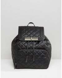 ALDO - Quilted Backpack With Front Pocket - Lyst