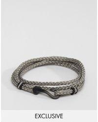 Seven London - Hook Bracelet In Gray Exclusive To Asos - Lyst
