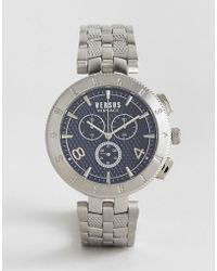 Versus - S7613 Logo Bracelet Watch In Silver - Lyst