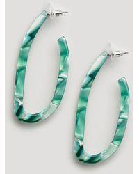 Ashiana - Curved Earrings In Green Marble - Lyst