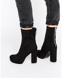Lost Ink - Platform Heeled Ankle Boots - Lyst