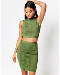 Wow Couture - Stripe Crop And Skirt Set - Lyst