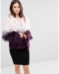 Barneys Originals - Ombre Faux Fur Coat - Lyst