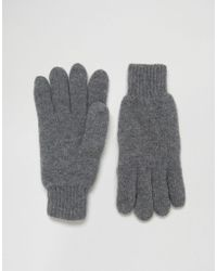 SELECTED - Gloves In Wool - Gray - Lyst