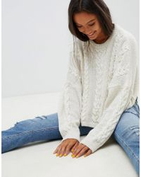 ASOS - Cable Sweater - Lyst