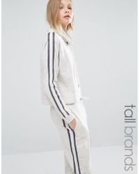 Y.A.S - Minna Contrast Stripe Drawstring Cropped Hoodie - Lyst