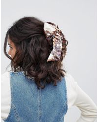 ASOS - Design Hair Clip With Vintage Scarf Style Bow - Lyst