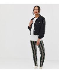 b85eaaafc67fd ASOS - Asos Design Maternity Over The Bump leggings In Stripe Print - Lyst