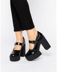 T.U.K. - . Yuni Mary Jane Brogue Platform Shoes - Lyst