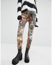Tripp Nyc - Wildlife Print Skinny Jeans - Lyst