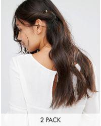 Pieces - Galia Hair Clips - Lyst