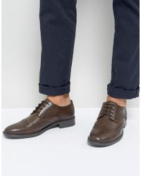 Frank Wright - Brogues In Brown Leather - Lyst