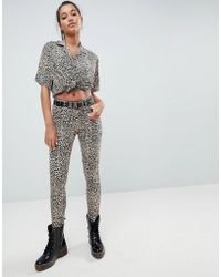 Motel - Ultimate Jeans In Leopard - Lyst