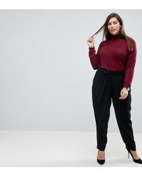 ASOS - Woven Peg Trousers With Obi Tie - Lyst