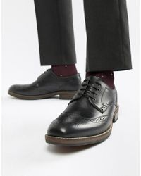 Red Tape - Swinley Lace Up Brogues In Black - Lyst