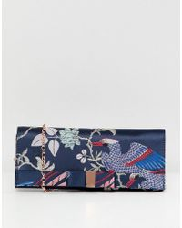 Ted Baker - Chinoiserie Bow Clutch Bag - Lyst