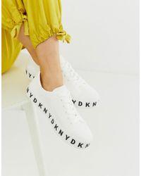 DKNY - Plateau-Sneaker mit dicker Sohle - Lyst