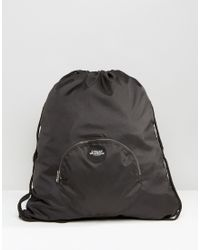 Cheap Monday - Front Pocket Drawstring Backpack - Black - Lyst