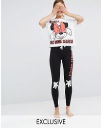 Missimo - Disney Minnie Seriously No More Selfies Long Pj Set - Lyst