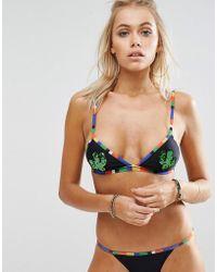 Jaded London - Sequin Cactus Triangle Bikini Top - Lyst