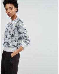 YMC - Hazey Floral Sweatshirt - Lyst