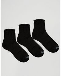 Ruby Rocks - 3 Pack Pellerine Sock Pack - Black - Lyst