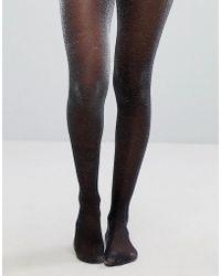 7a602d9f443 Lyst - ASOS Metallic Sock in Silver in Metallic