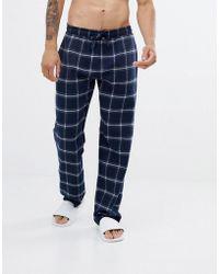 New Look - Pyjama Bottoms In Navy Check - Lyst