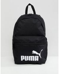 PUMA - Phase Backpack In Black 07548701 - Lyst