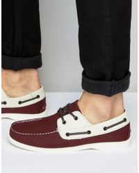 Bellfield - Boat Shoes - Red - Lyst
