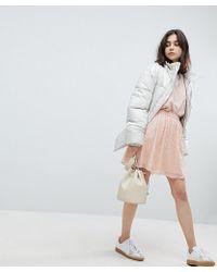 Pieces - Embellished Skater Skirt - Lyst