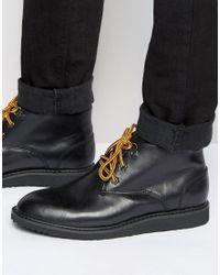 Bellfield | Desert Boots In Black Leather | Lyst