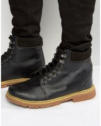 Bellfield - Heritage Boots In Black Leather - Lyst