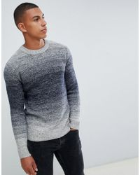Jack & Jones - Originals Knitted Jumper With Mixed Yarn Fade - Lyst