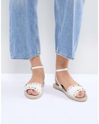 Miss Selfridge - Studded Espadrille Sandals - Lyst