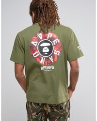 Aape - By Bathing Ape T-shirt With Back Print - Lyst