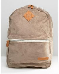 Pull&Bear - Sueduette Backpack In Gray - Lyst