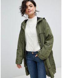Vero Moda - Hooded Rain Jacket - Lyst
