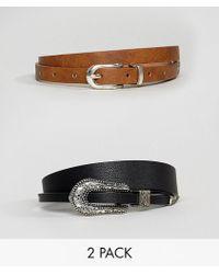 ASOS - 2 Pack Western Waist & Hip Belts - Lyst