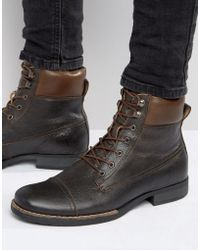 Bellfield - Hyder Leather Laceup Boots - Lyst