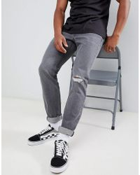 Lee Jeans - Rider Slim Jeans Grey Trashed - Lyst