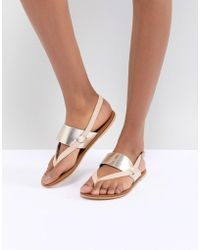 Warehouse - Sandals With Toe Post - Lyst